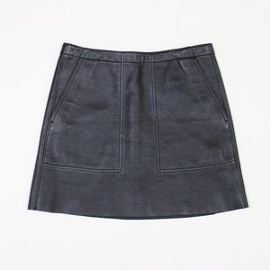 Coach Leather Mini Skirt